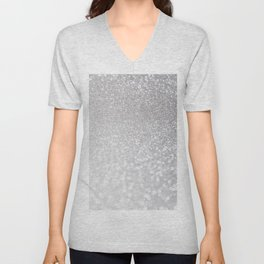 Silver ice - glitter effect- Luxury design Unisex V-Neck