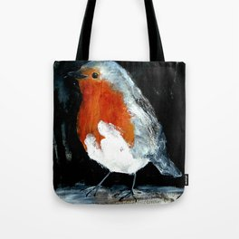 Robin British Wildlife Wild Bird Acrylic Painting Tote Bag