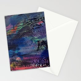 Abstract Dark Paint Strokes Stationery Cards