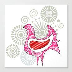 Stylish hen  Canvas Print