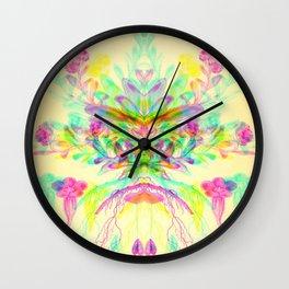 Botanical Flower Glitch V Wall Clock
