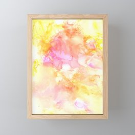 Pink and Yellow Abstract Framed Mini Art Print