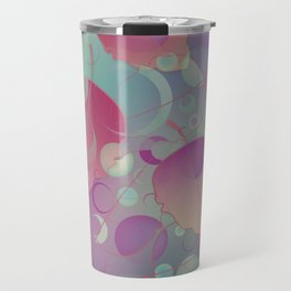Floating Leaves Pattern II - Red Purple, Autumn Travel Mug