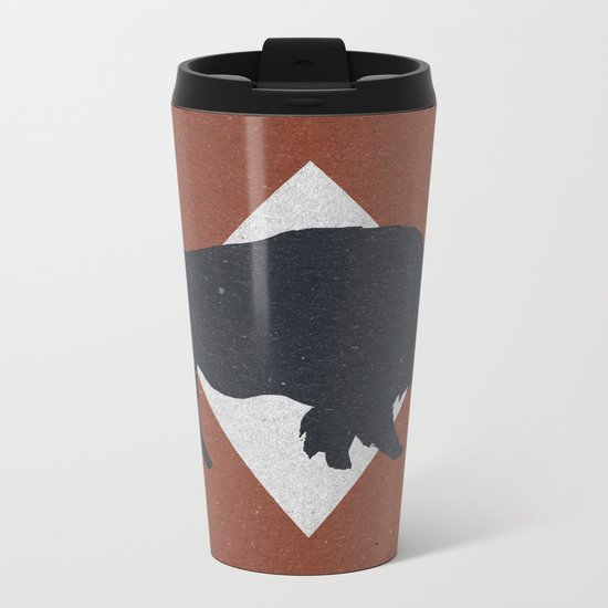 Bison & Blue Metal Travel Mug