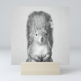 Squirrel - Black & White Mini Art Print