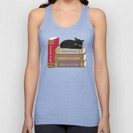 Dark literature meow Unisex Tank Top