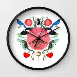 Flora & Fauna Wall Clock
