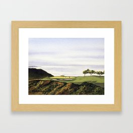 Torrey Pines South Golf Course Hole 3 Framed Art Print