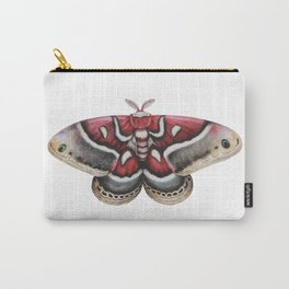Moth - HYALOPHORA GLOVERI - Glover's silk moth | Painting | Watercolour | Insect Carry-All Pouch