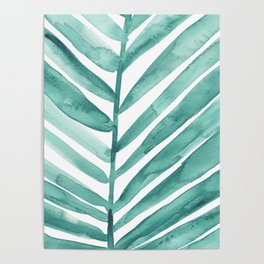 Green Palm Leaf Crop Poster