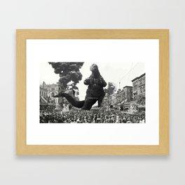 New Orleans Godzilla Attack 1908 Framed Art Print