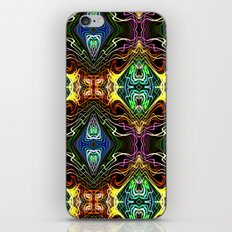 Neon Pinstripes 1 A iPhone & iPod Skin