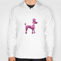 poodle Hoodies featuring pink poodle by 1 monde à part