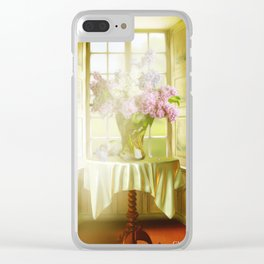 Springtime In My Window Clear iPhone Case