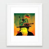 dylan Framed Art Prints featuring dylan by Mariana Beldi