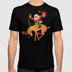 Christmas Rodeo SMALL Black Mens Fitted Tee