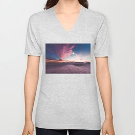 Moon gazing Unisex V-Neck