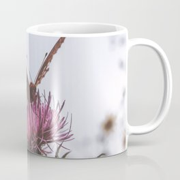 Aphrodite Fritillary Butterfly on Thistle Photography Coffee Mug