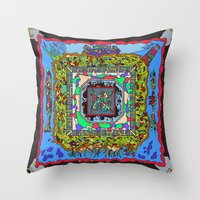 pixel art Throw Pillows featuring Pixel by oddscenes