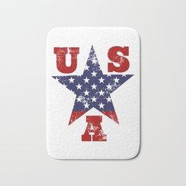 USA Flag Star Symbol Bath Mat