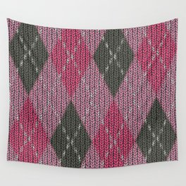Pink Roses in Anzures 4 Argyle 1 Wall Tapestry