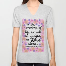 In The Evening Of Life Unisex V-Neck