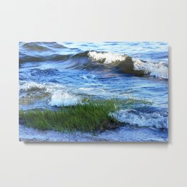 Soft Rolling Waves - 2 Metal Print