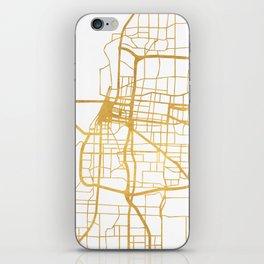 MEMPHIS TENNESSEE CITY STREET MAP ART iPhone Skin
