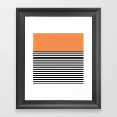STRIPE COLORBLOCK {ORANGE} Framed Art Print