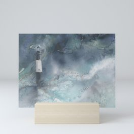 Night Storm at Tybee Lighthouse Mini Art Print