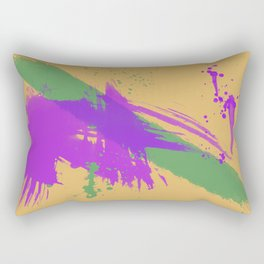 Intrepid, Abstract Brushstrokes Rectangular Pillow