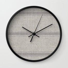 Vintage Grain sack Grey Linen  Wall Clock