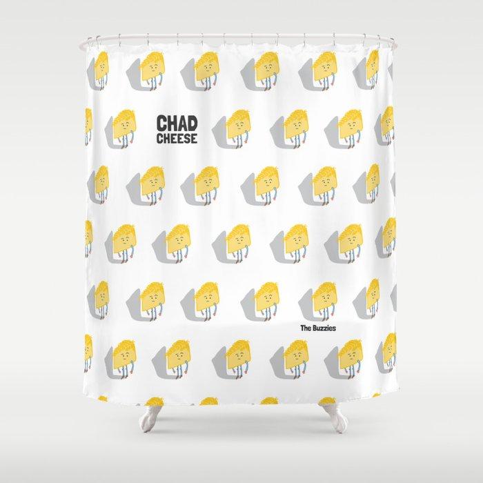 Chad Cheese Shower Curtain