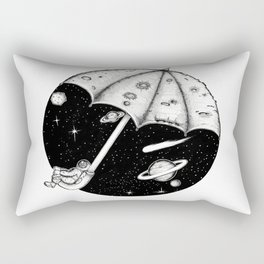 There is no rain on the moon Rectangular Pillow