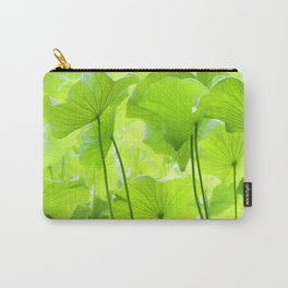 Lotus Leaves Carry-All Pouch