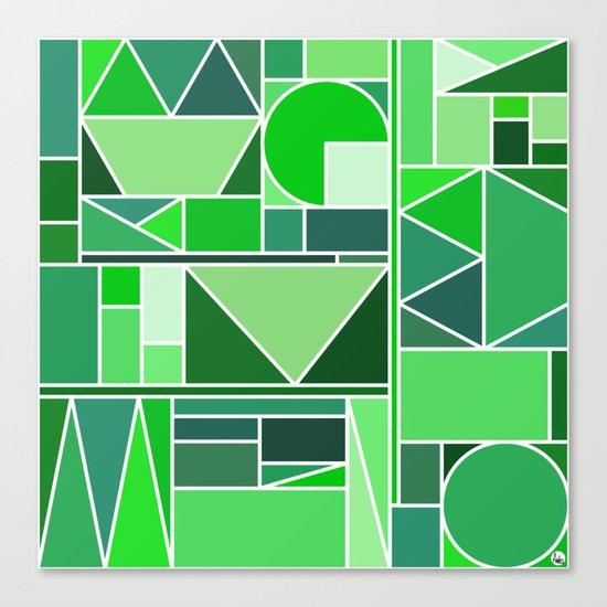 Kaku Green Canvas Print
