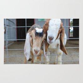 Frickin' Cute Goats Rug