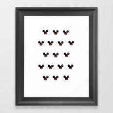 8 Bit Mouses  Framed Art Print