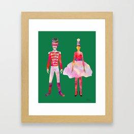 Nutcracker Ballet - Candy Cane Green Framed Art Print