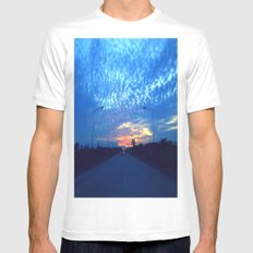 On The Road MEDIUM Mens Fitted Tee White