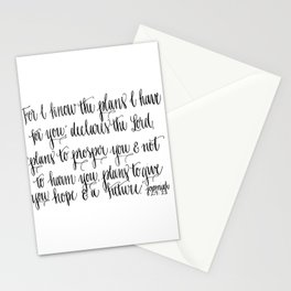 """""""For I know the plans I have for you..."""" Stationery Cards"""