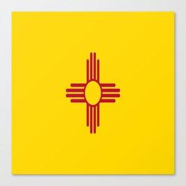 flag new mexico-usa,america,sun,Zia Sun symbol,New Mexican,Albuquerque,Las Cruces,santa fe,roswell Canvas Print