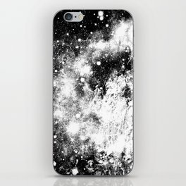 Chaotic Space : Galaxy Black White Gray iPhone Skin