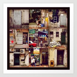 Doors of Hong Kong Art Print
