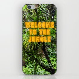 Welcome to the Jungle - Neon iPhone Skin