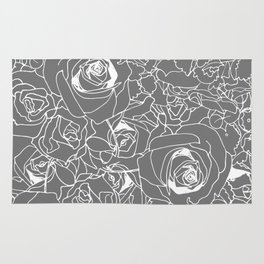 Grey Bouquet Rug