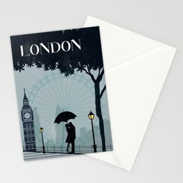 London vintage poster travel Stationery Cards