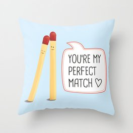 Perfect Match Throw Pillow