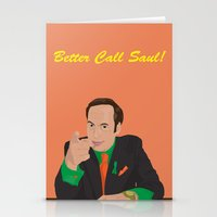 better call saul Stationery Cards featuring Better call them! Saul Goodman - Ari Gold by Lucho Margolin