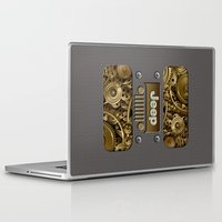 jeep Laptop & iPad Skins featuring Steampunk Jeep with Gear machines iPhone 4 4s 5 5c 6, pillow case, mugs and tshirt by Greenlight8
